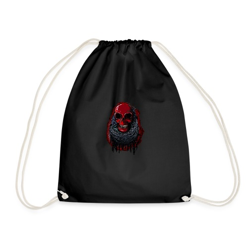 Red Skull in Chains - Drawstring Bag