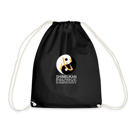 Shinbukan Tai Chi og tegnet for Kokoro hvidt tryk - Sportstaske
