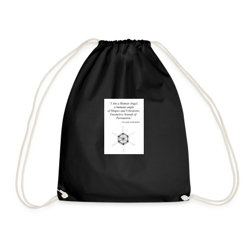 'Human Angel' GraceGabriellaPOETICS - Drawstring Bag