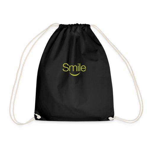 smile word gruen - Turnbeutel