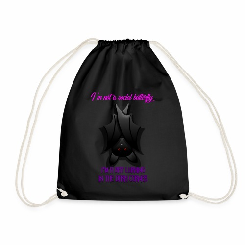 Bat Lurking in the Corner - Drawstring Bag