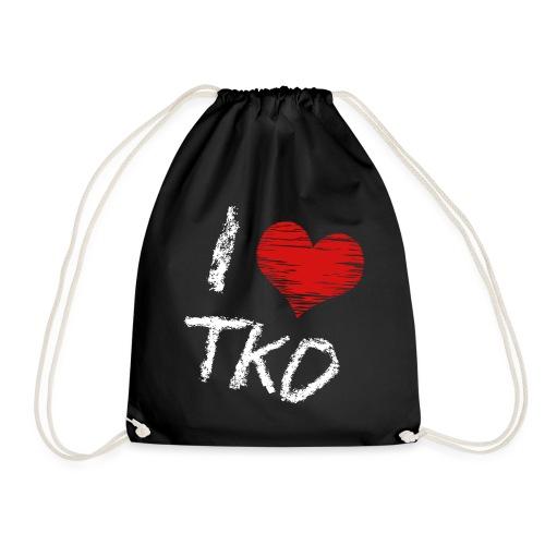 I love tkd letras blancas - Mochila saco