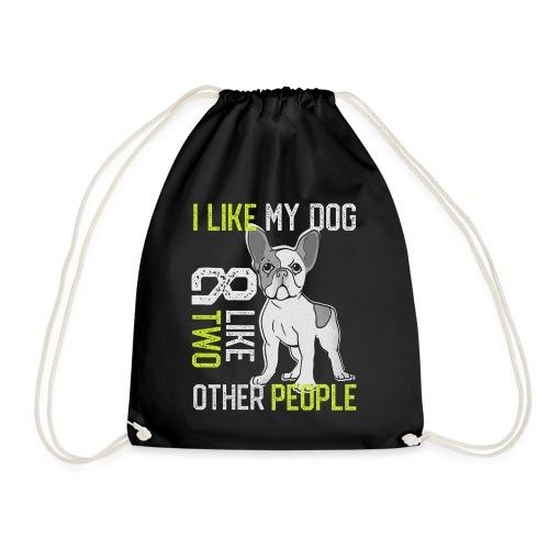 Ich liebe meinen Hund, Französische Bulldogge - Turnbeutel