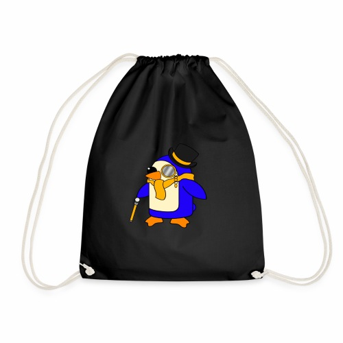 Cute Posh Sunny Yellow Penguin - Drawstring Bag