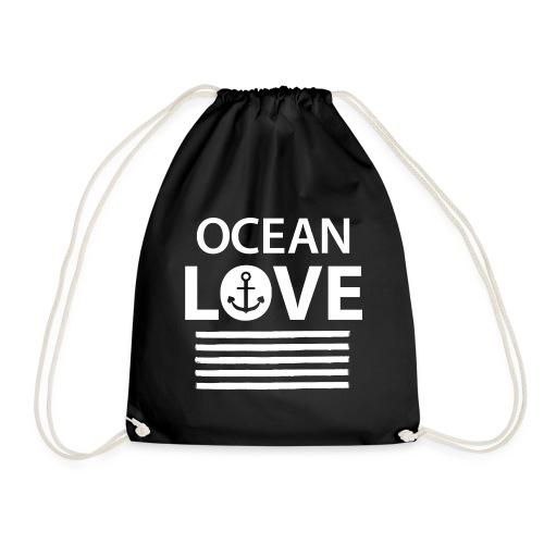 OCEAN LOVE - Anker und maritime Streifen - Turnbeutel
