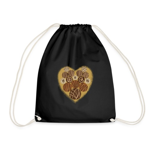 chocoholic | chocolate t-shirt - Drawstring Bag