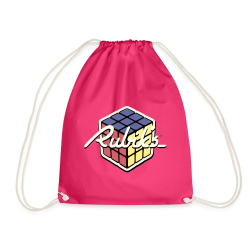 Rubik's Cube Retro Style - Drawstring Bag