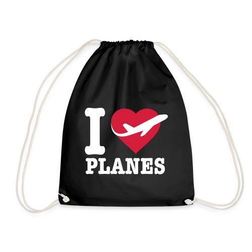 Uwielbiam samoloty - białe - Worek gimnastyczny