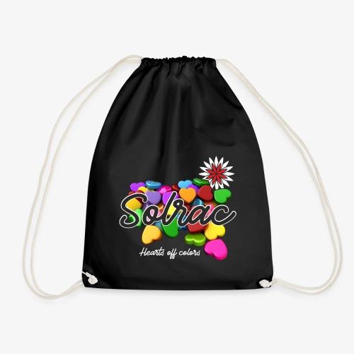 SOLRAC Hearts black - Mochila saco