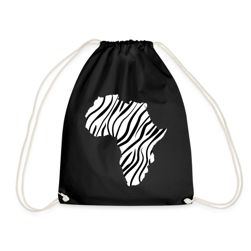 African continent in thin zebra stripes - Gymtas