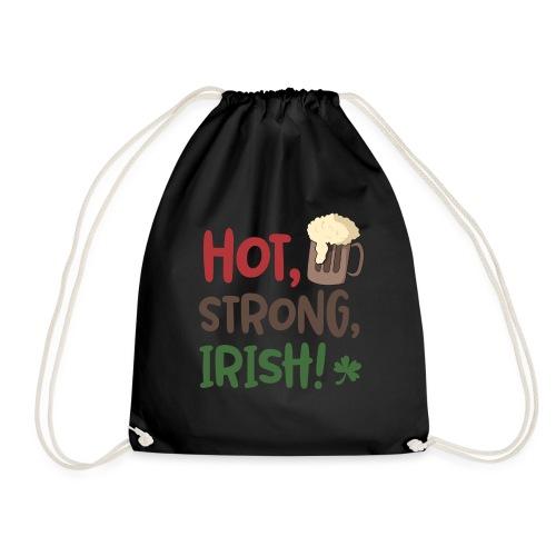 hot strong irish - Irish coffee, irish beer - Part - Drawstring Bag