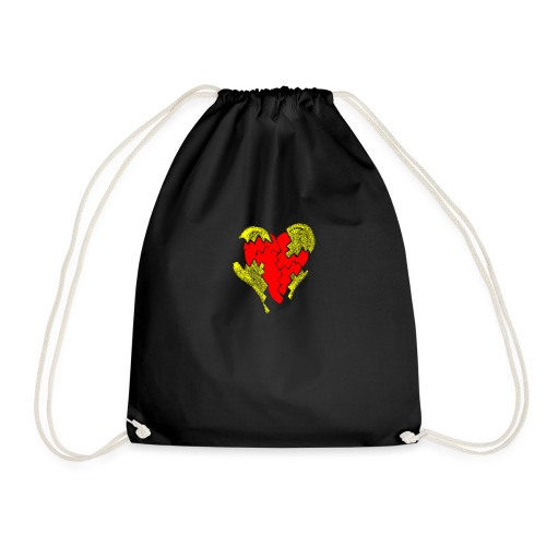 peeled heart (I saw) - Drawstring Bag