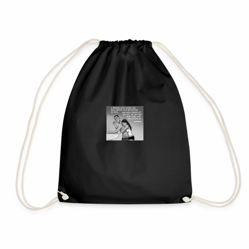 never give up - Drawstring Bag