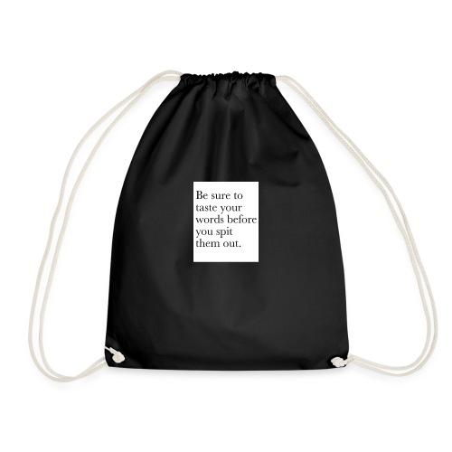 new life quotes - Drawstring Bag
