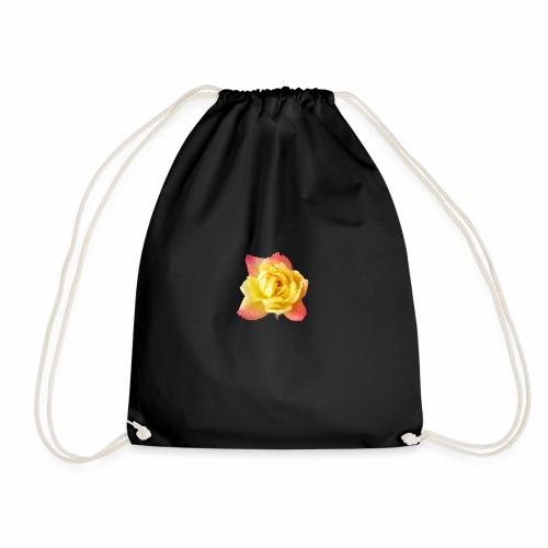 yellow rose - Drawstring Bag