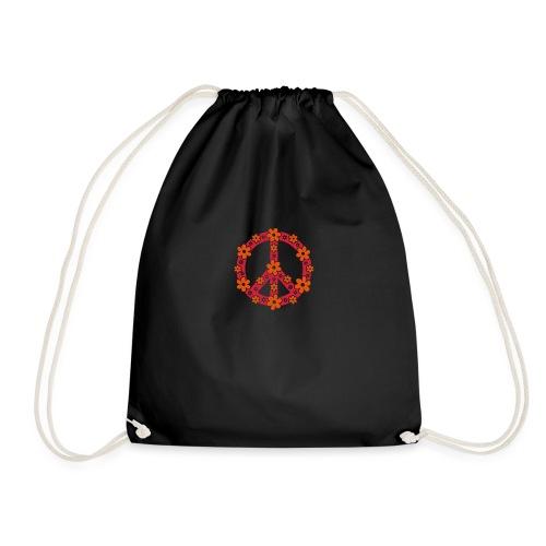 Peace Frieden Symbol Hippie Sommer Freiheit Liebe - Turnbeutel