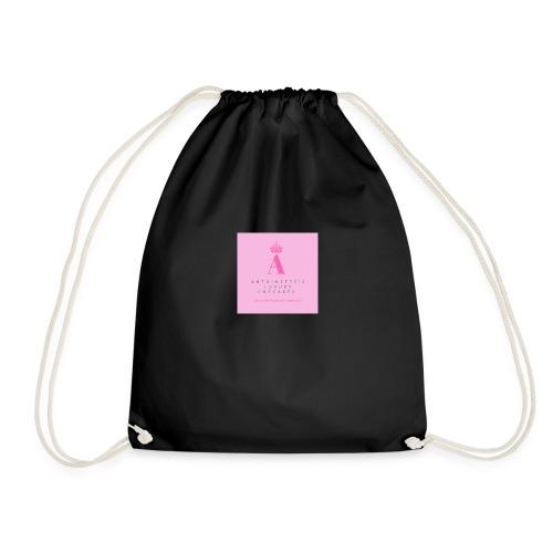 Womens white cupcake T-shirt - Drawstring Bag