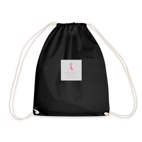 Antoinette's Luxury Cupcakes Grey Logo - Drawstring Bag