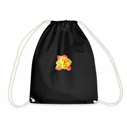 yellow rose - Drawstring Bag