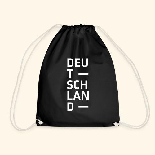 Deutschland Typo T Shirt Spruch weiss - Turnbeutel