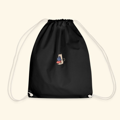 the eat-all-you-can cat - Drawstring Bag