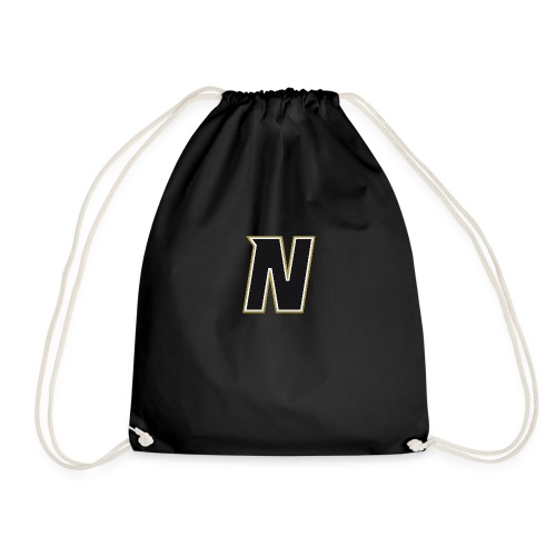 Nordic Steel Black N - Drawstring Bag