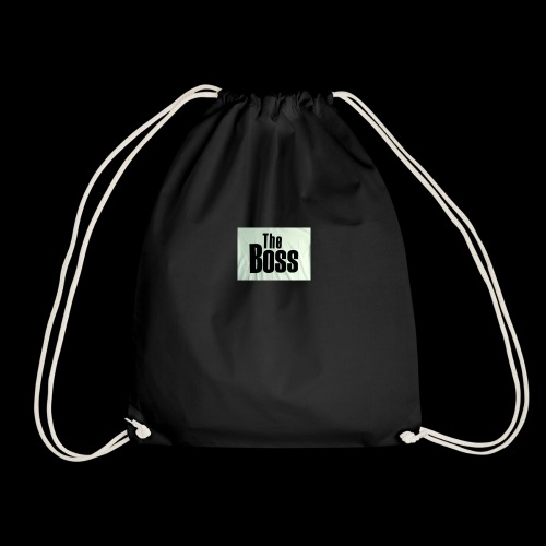 the boss - Drawstring Bag