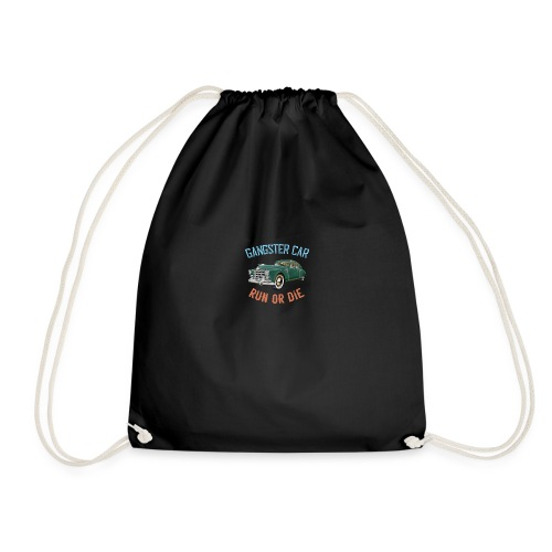 Gangster Car - Run or Die - Drawstring Bag