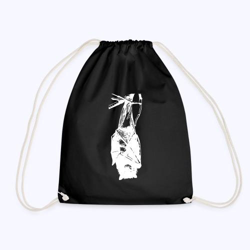HangingBat weiss - Turnbeutel