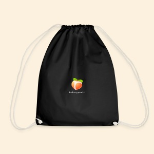 Look my peach in white - Drawstring Bag