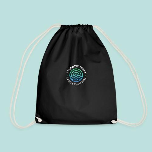 Atlantic Drift Logo (White) - Drawstring Bag