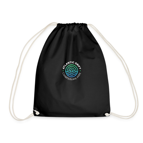 Atlantic Drift Logo (White) - Drawstring Bag