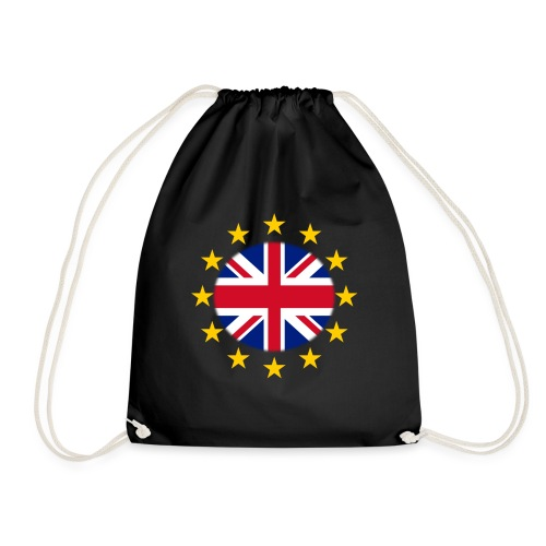 EU stars with Union flag - Drawstring Bag