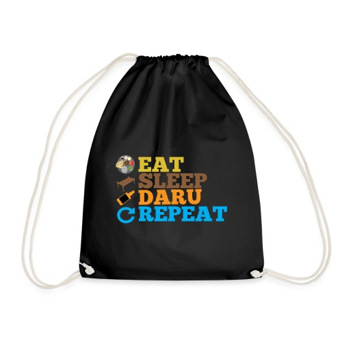 EAT SLEEP DARU REPEAT - Drawstring Bag