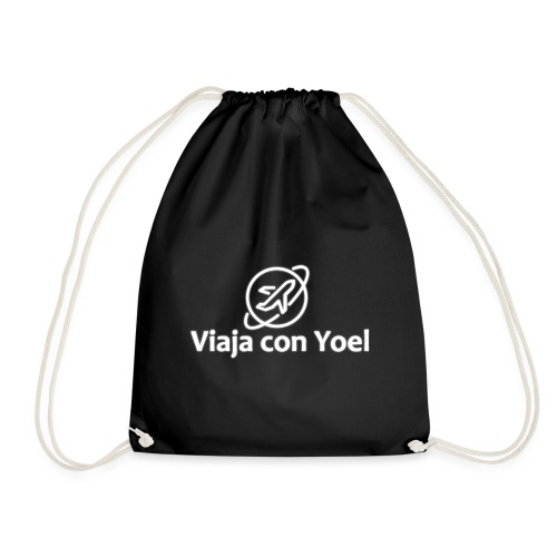 Viaja con Yoel White Logo - Mochila saco