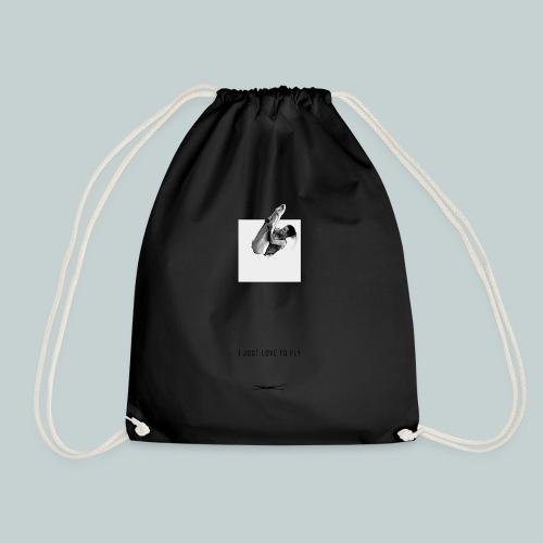 Ijustlovetofly_teen_boy_tshirt - Drawstring Bag