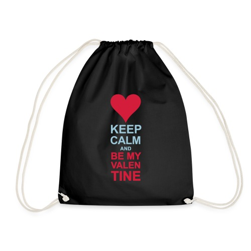 Be my quiet Valentine - Drawstring Bag