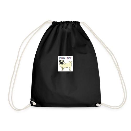original pug shirt - Drawstring Bag