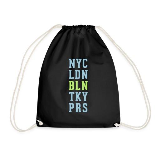 New York City - London - Berlin - Tokyo - Paris - Turnbeutel