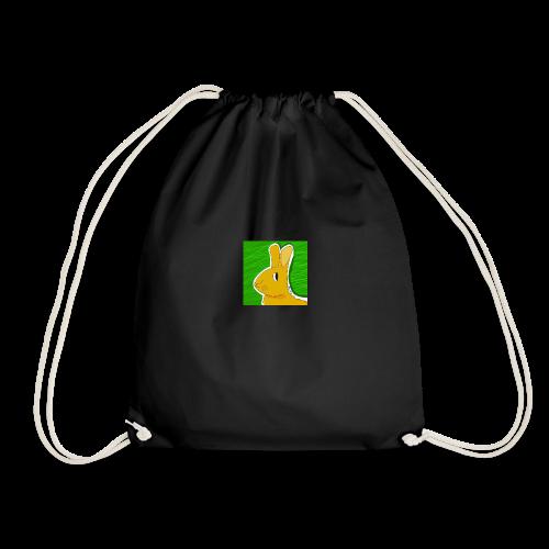 Konijn met groene achtergrond - Gymtas