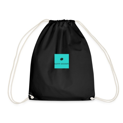happy coconut - Drawstring Bag