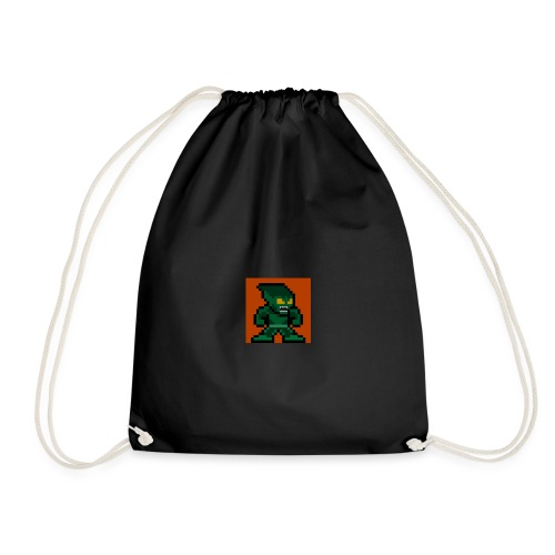 Green Goblin Pixel - Drawstring Bag