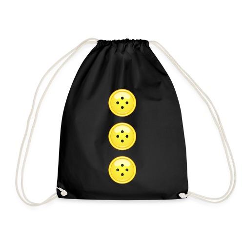 3 gelbe Knöpfe Knopf Buttons modische Accessoires - Drawstring Bag
