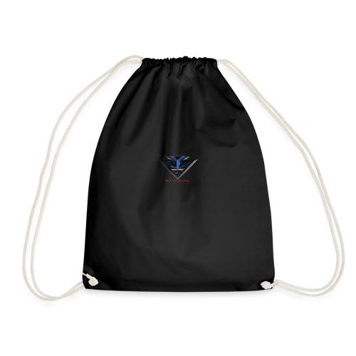 Wild Erah Logo BLACK NAVYBLUE png - Drawstring Bag