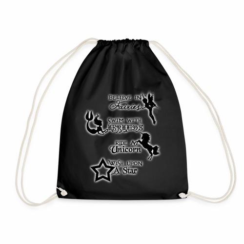 Fairies, Unicorns, Mermaids and Stars - Drawstring Bag