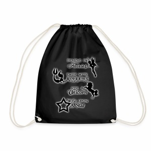Fairies, Unicorns, Mermaids and Stars - Drawstring Bag