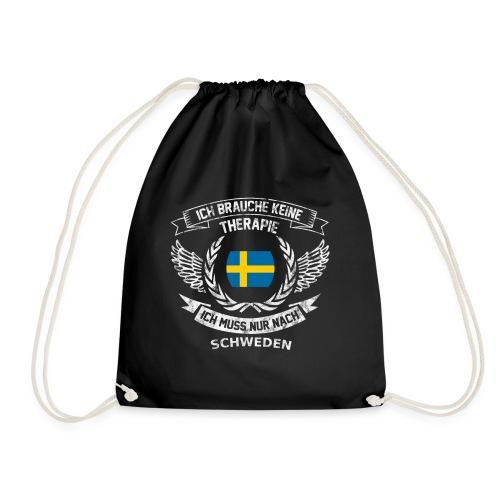 Schweden T-Shirt Urlaub - Turnbeutel
