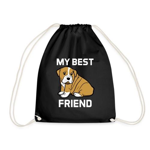 My Best Friend - Hundewelpen Spruch - Turnbeutel