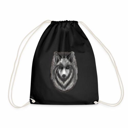 Foxy Wolf by Jon Ball - Drawstring Bag
