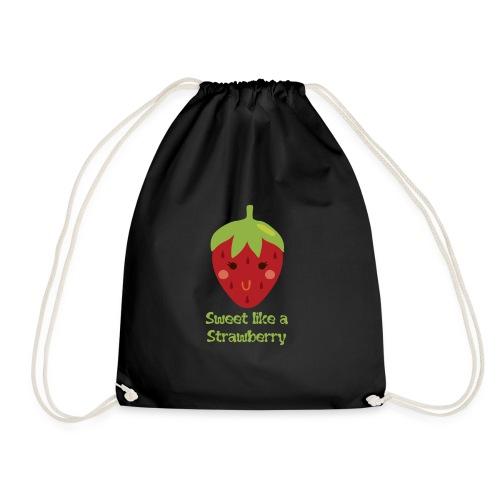 süße Erdbeere - Turnbeutel